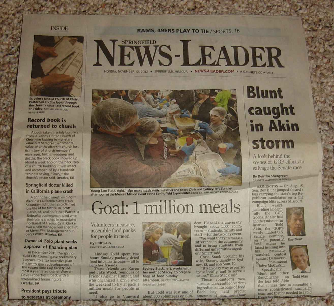 Blunt headline in News-Leader