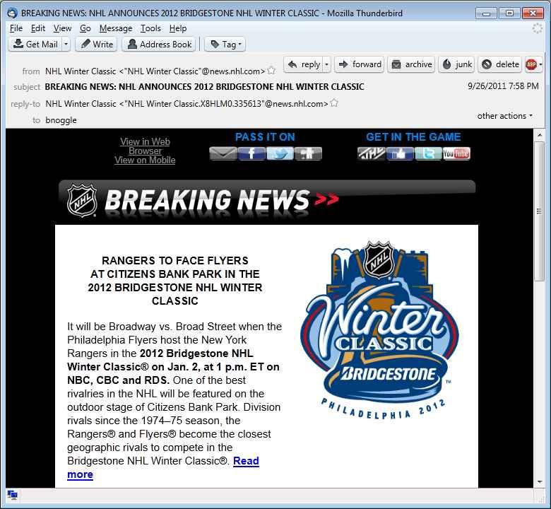 Not exactly breaking news