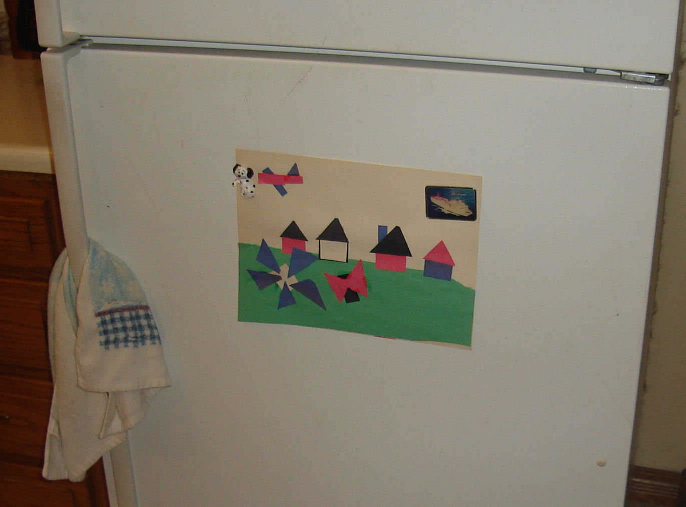 A pastoral landscape in construction paper