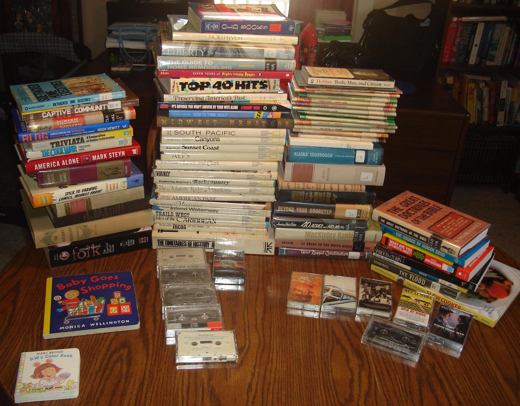 Three places, 63 books