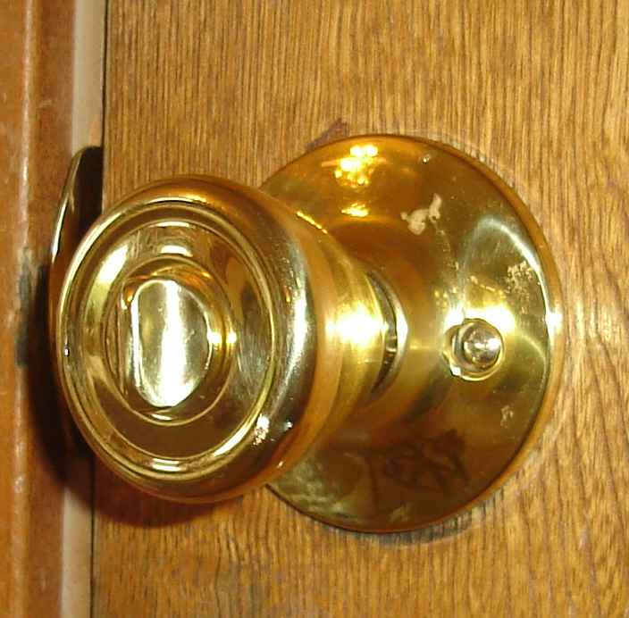 The knob, denuded.