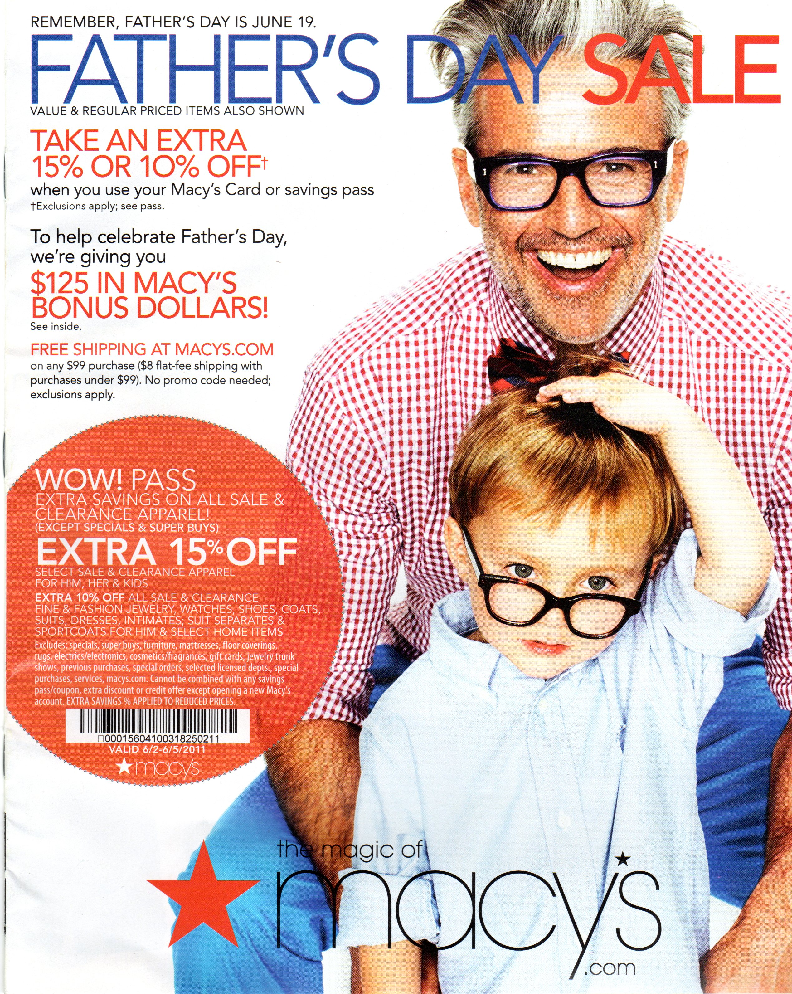 Father's Day ads Here are links to some of the ads for special in-store and online Father's Day deals. (Click on the store name to see the ads and their expiration dates).