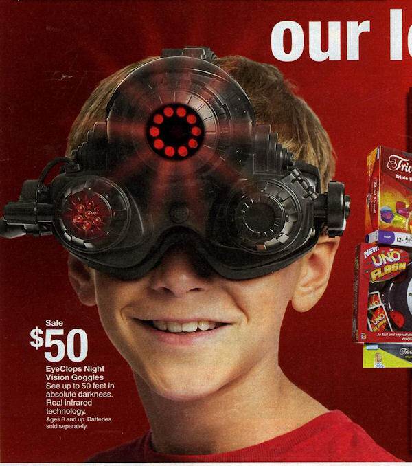 Night vision gear for the kiddies