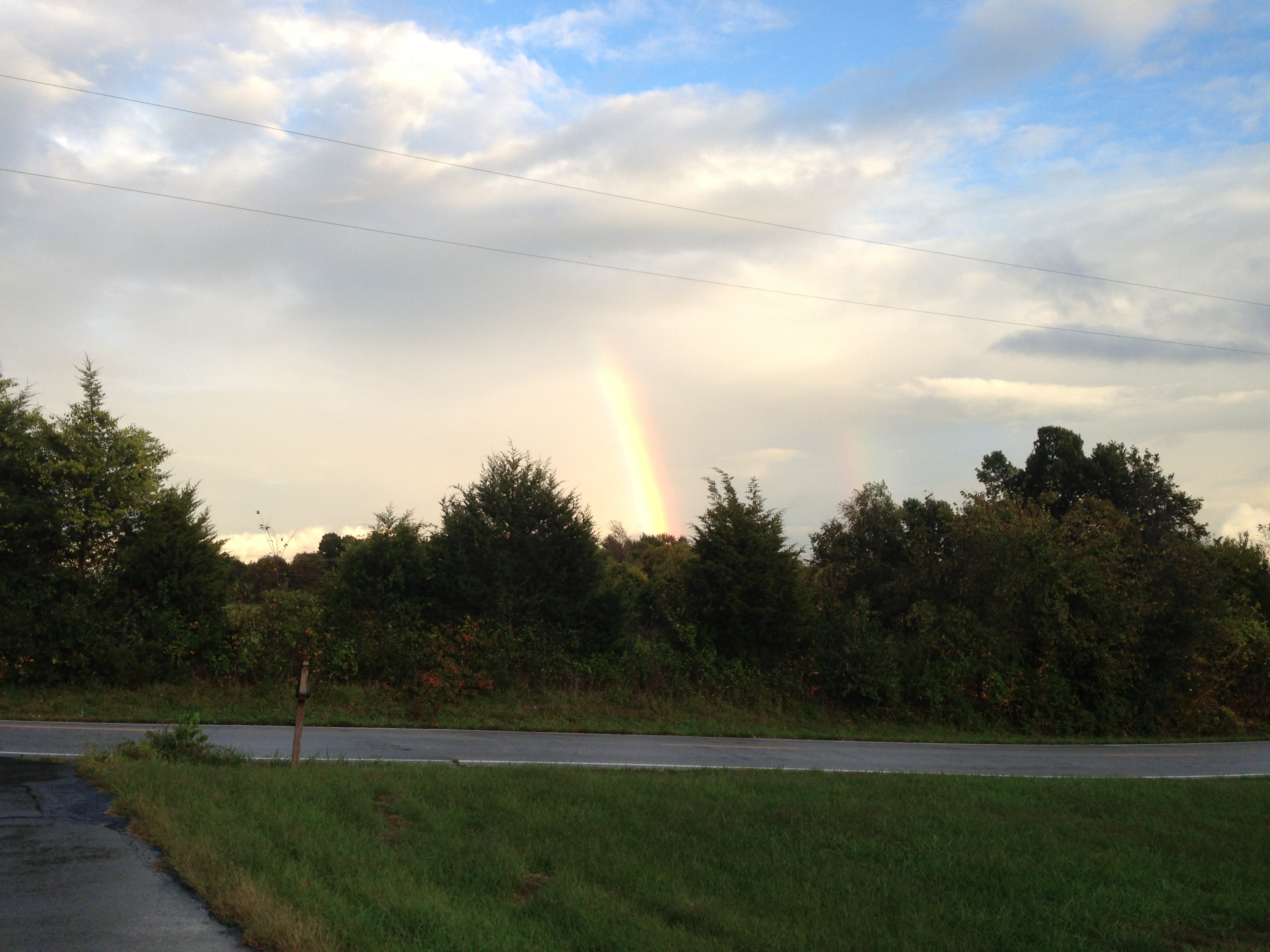 Another rainbow at Nogglestead