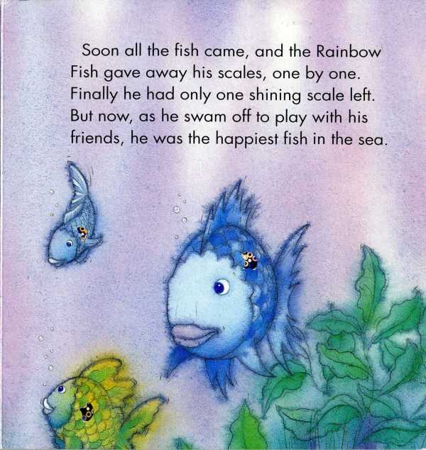 The antithesis of sharing musings from brian j noggle for Rainbow fish author