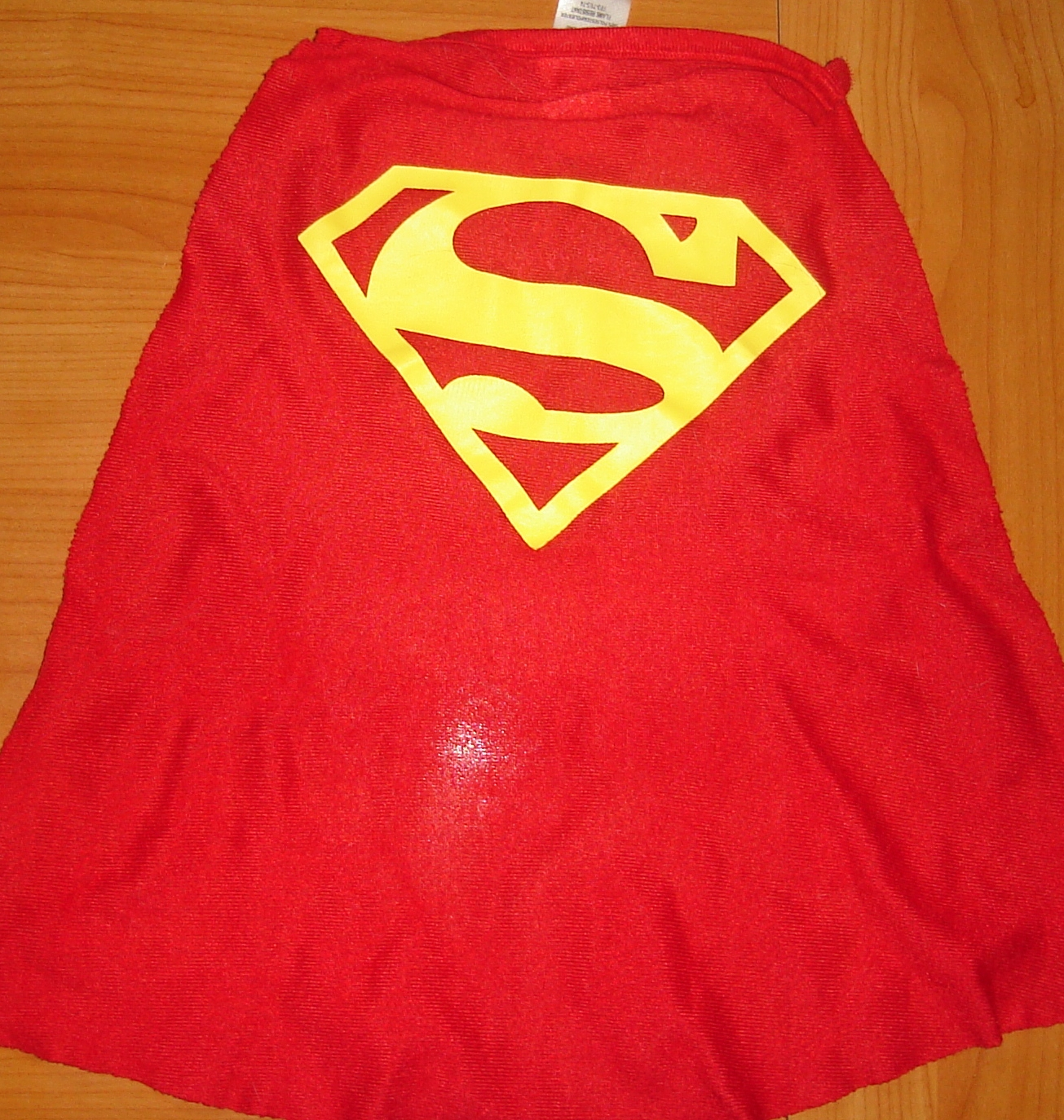A facsimile of Superman's cape
