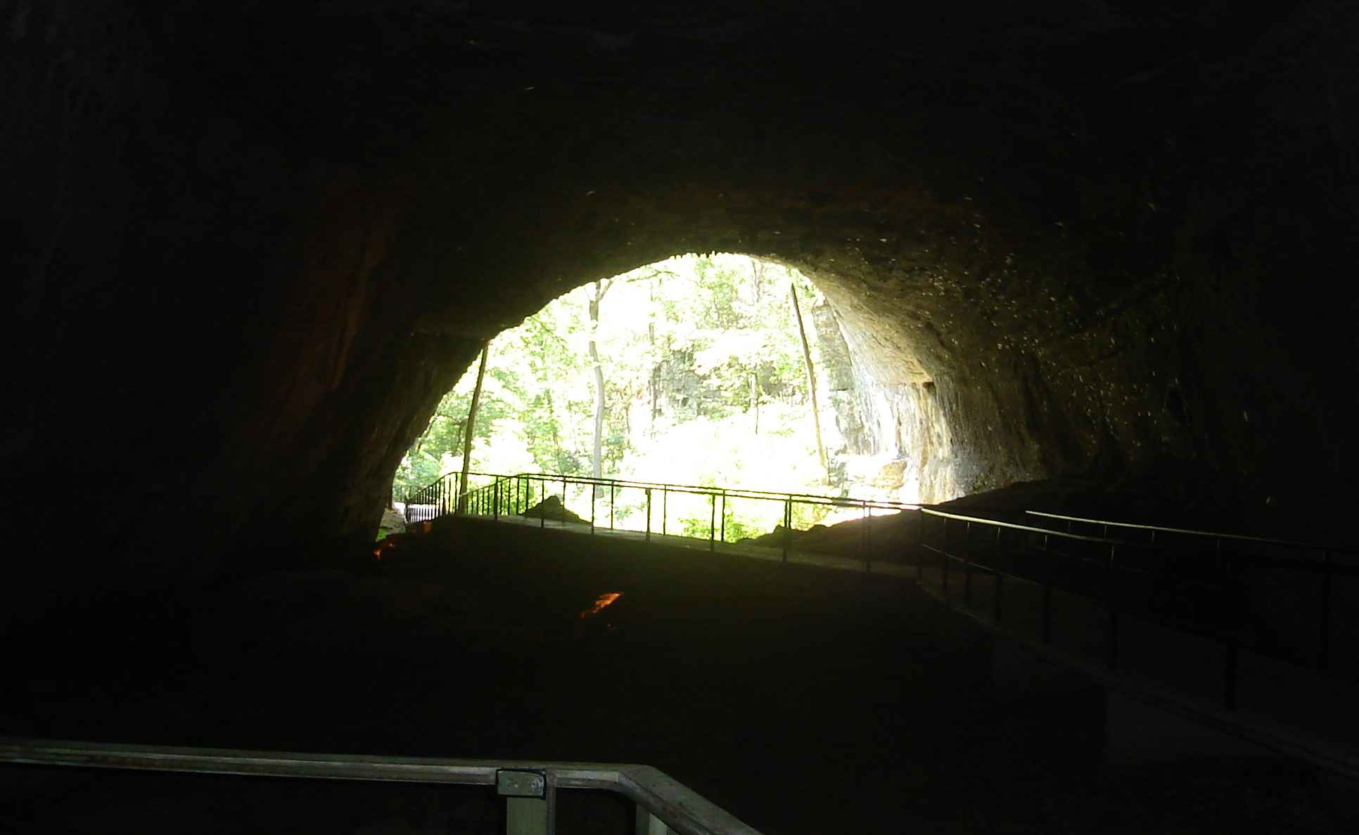 Smallin Cave entrance from inside the cave
