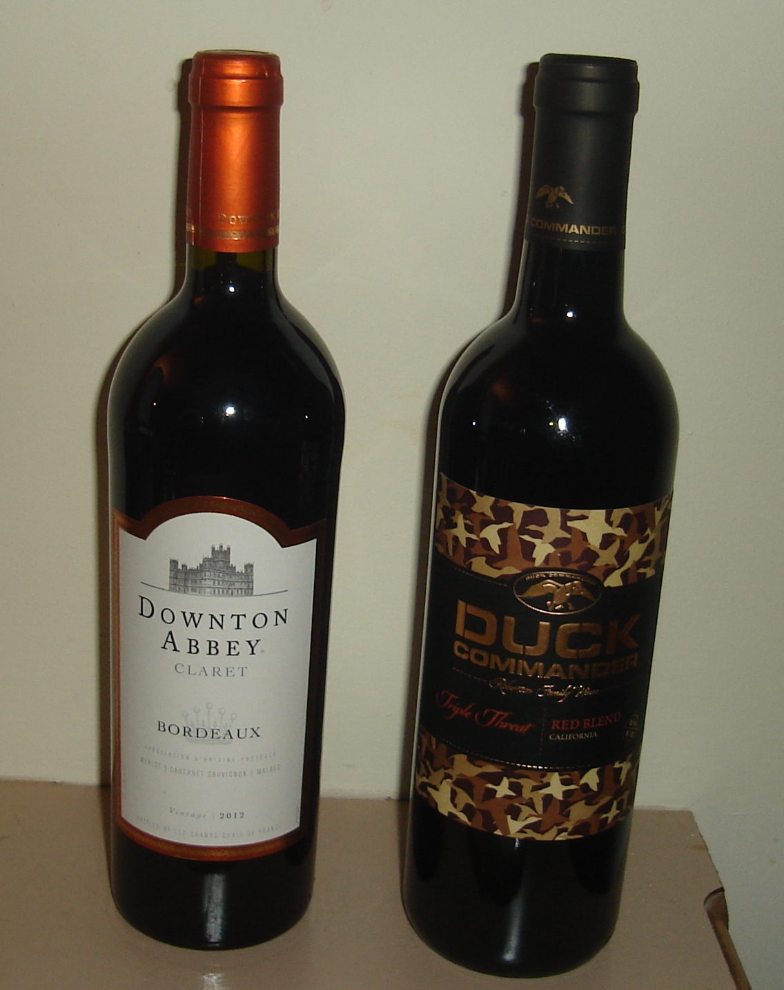 Downton Dynasty and Duck Abbey wines