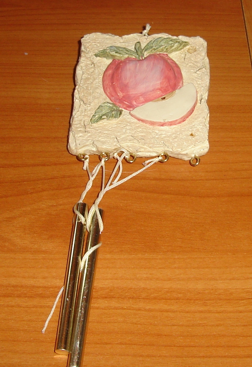 An apple wind chime