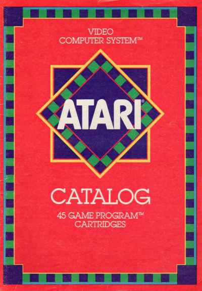 Atari 2600 game cartridge catalog cover