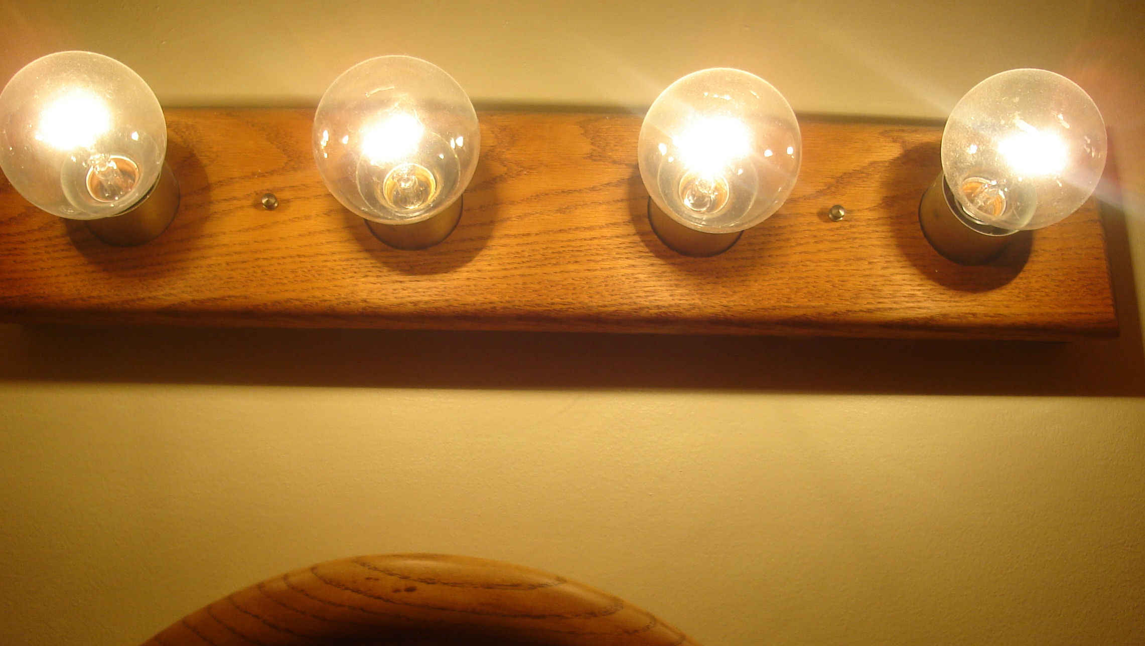 Lights in auxiliary bath