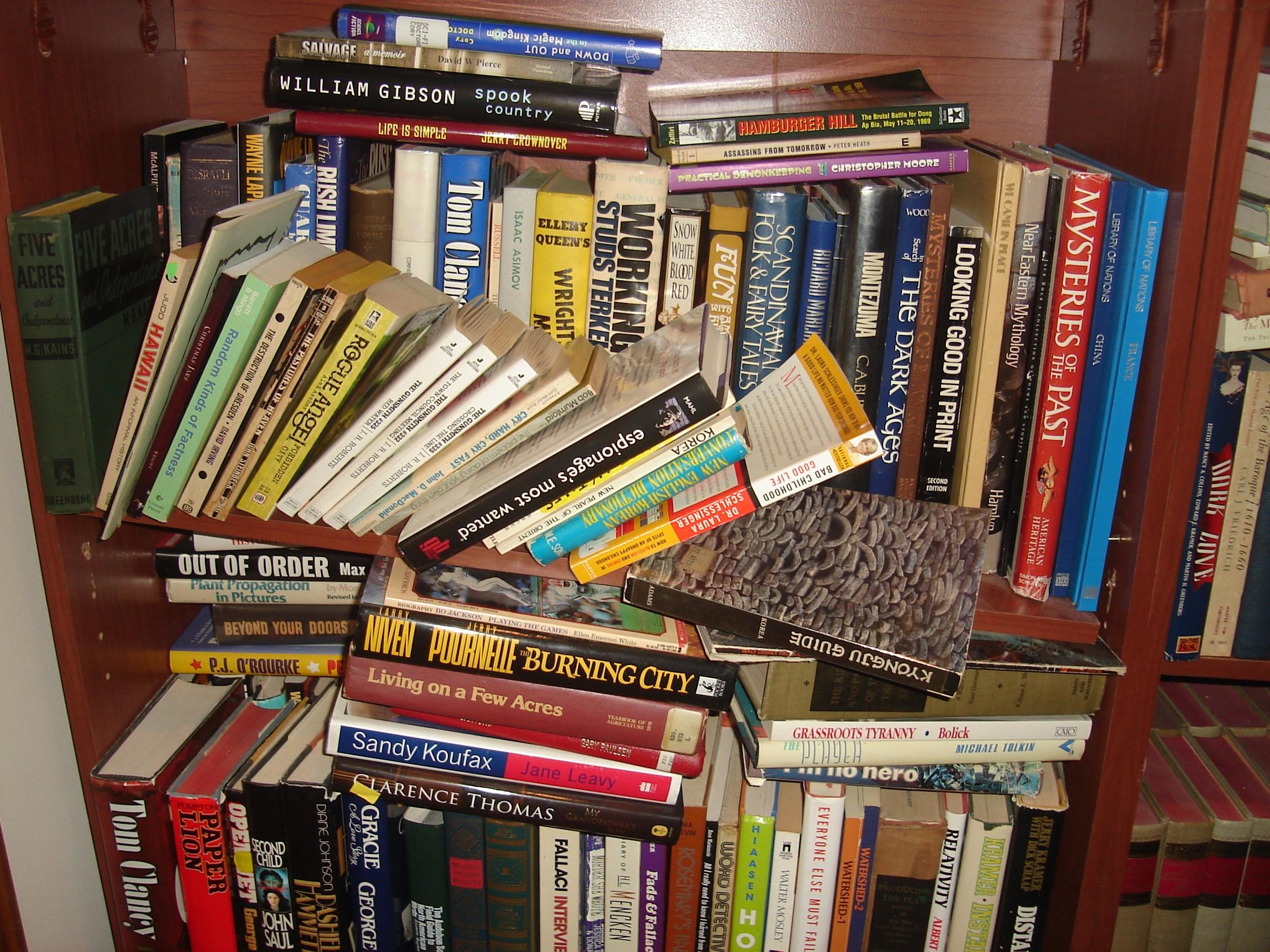 The Bookshelf, broken again