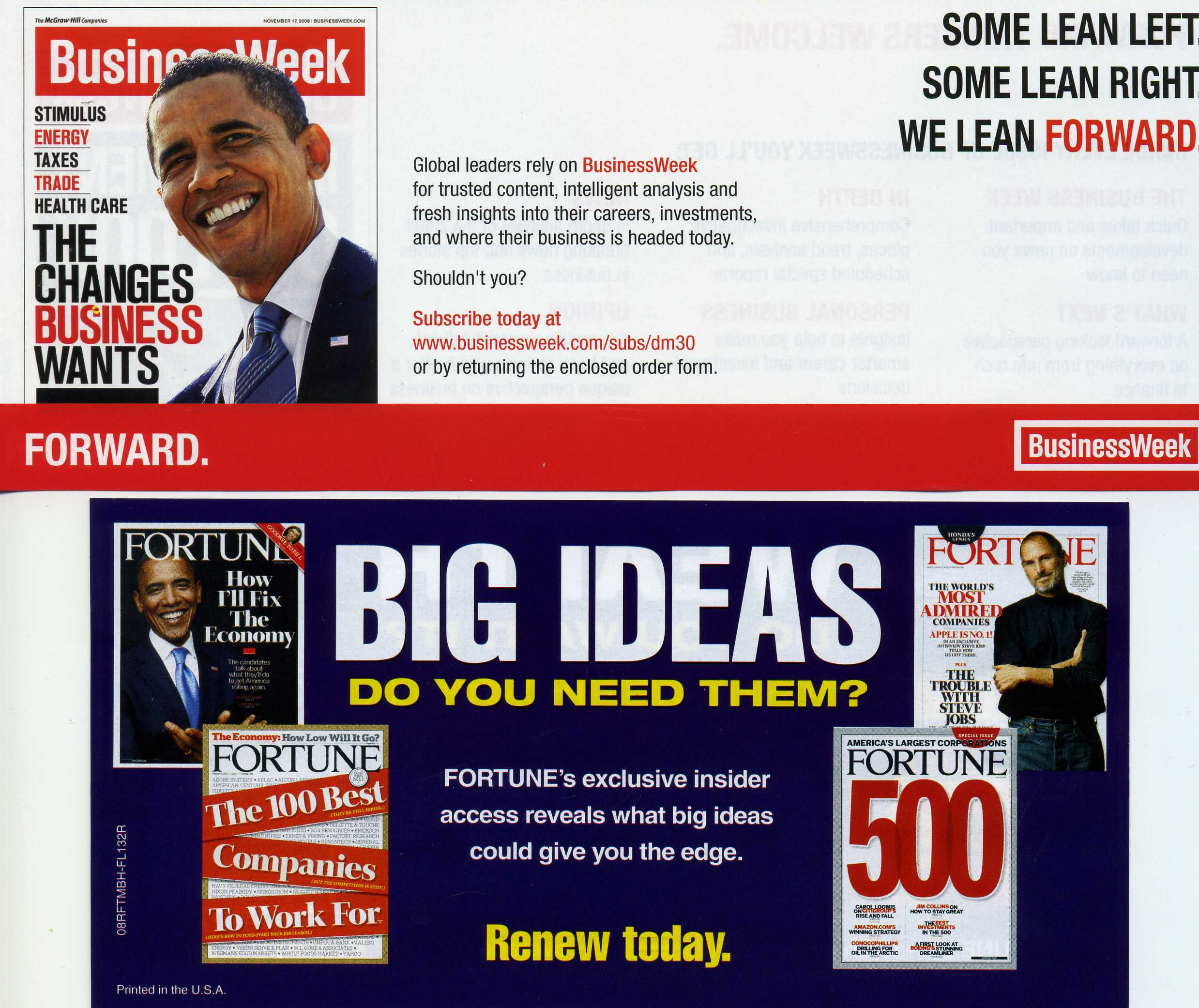 These are magazines.  They are not pro-business.