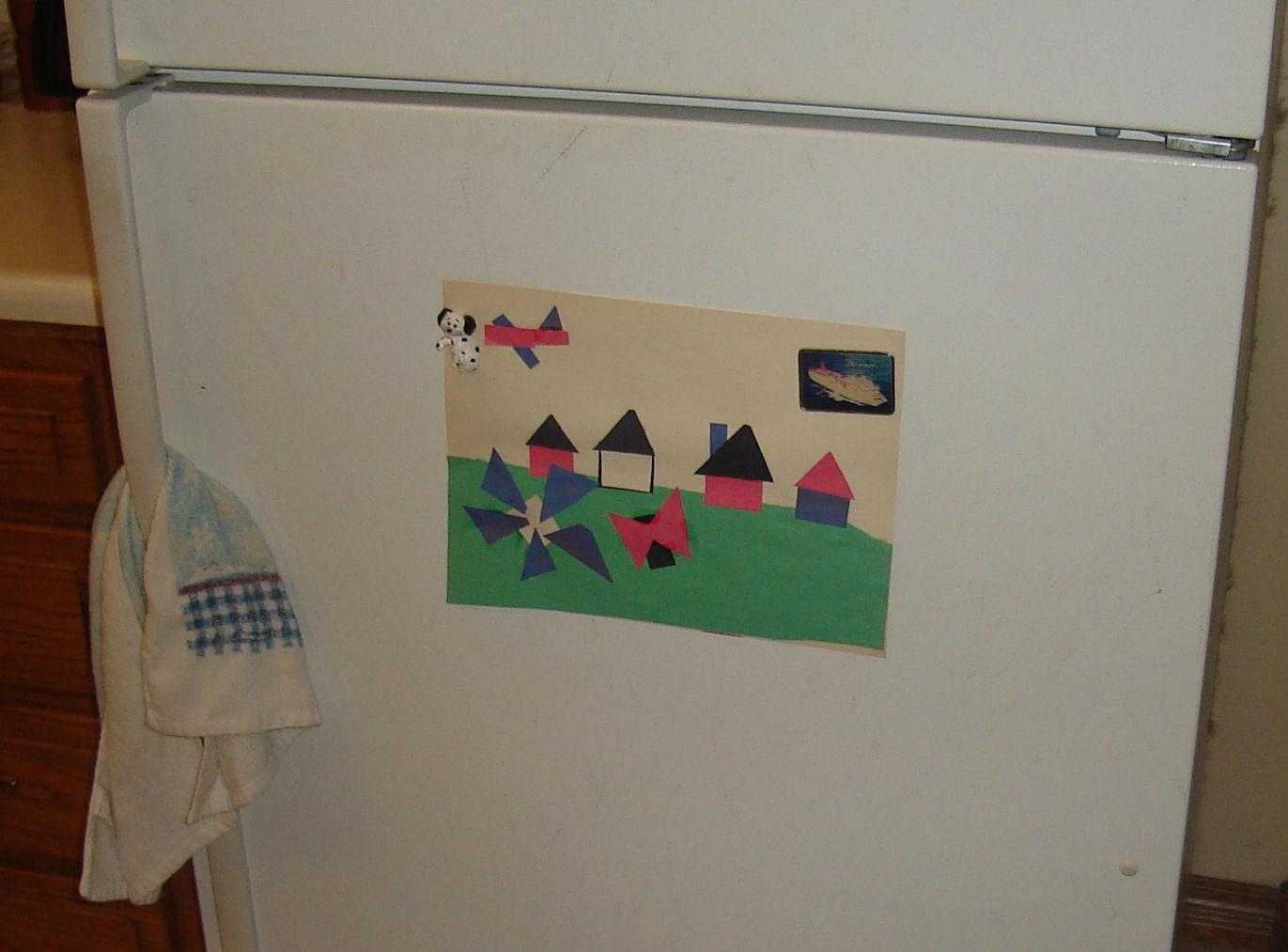 A pastoral landscape in construction paper