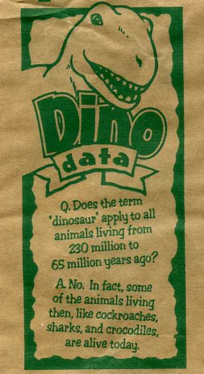 Dino Data as written by a politician