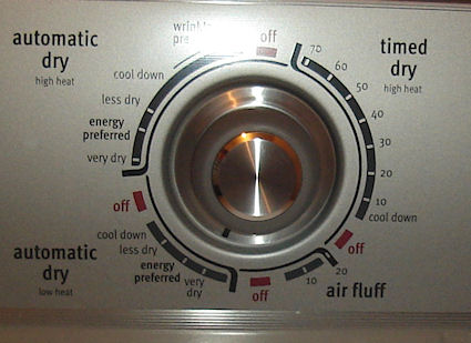 The dryer dial