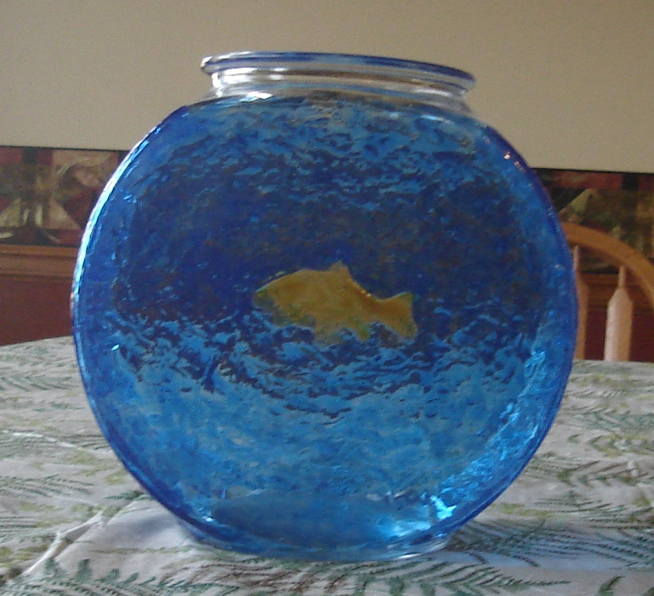 Painted fishbowl