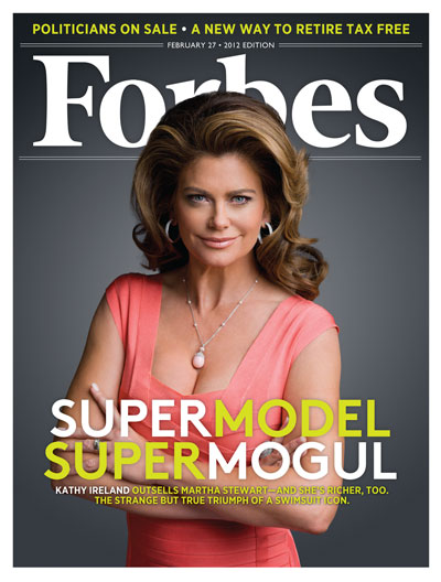 Kathy Ireland on the Forbes cover