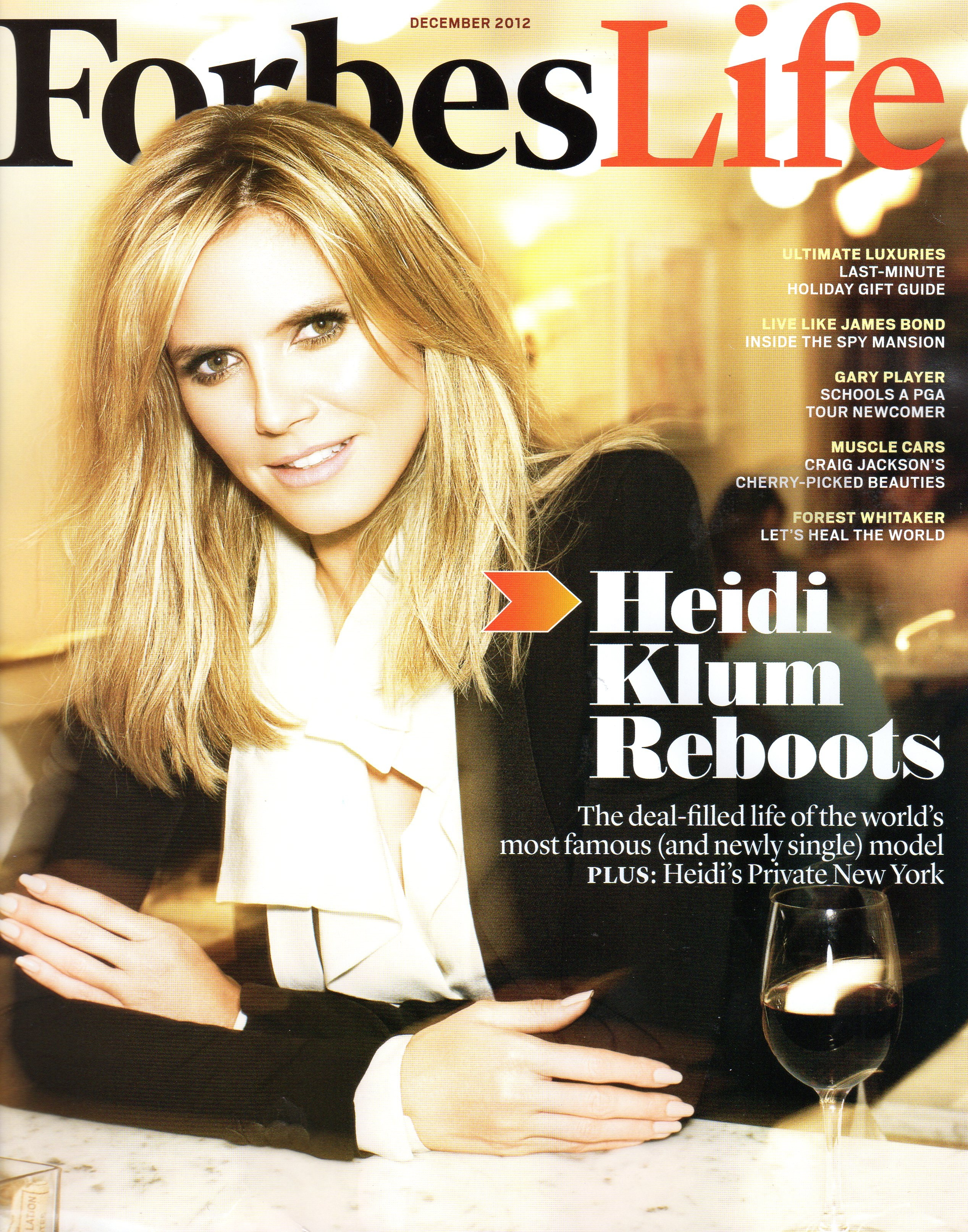 Heidi Klum on the Forbes Life cover