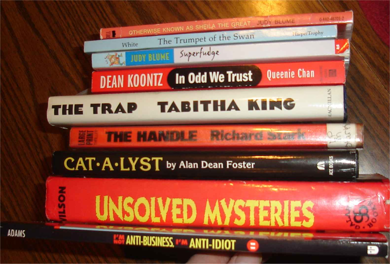 Some books from Hooked on Books