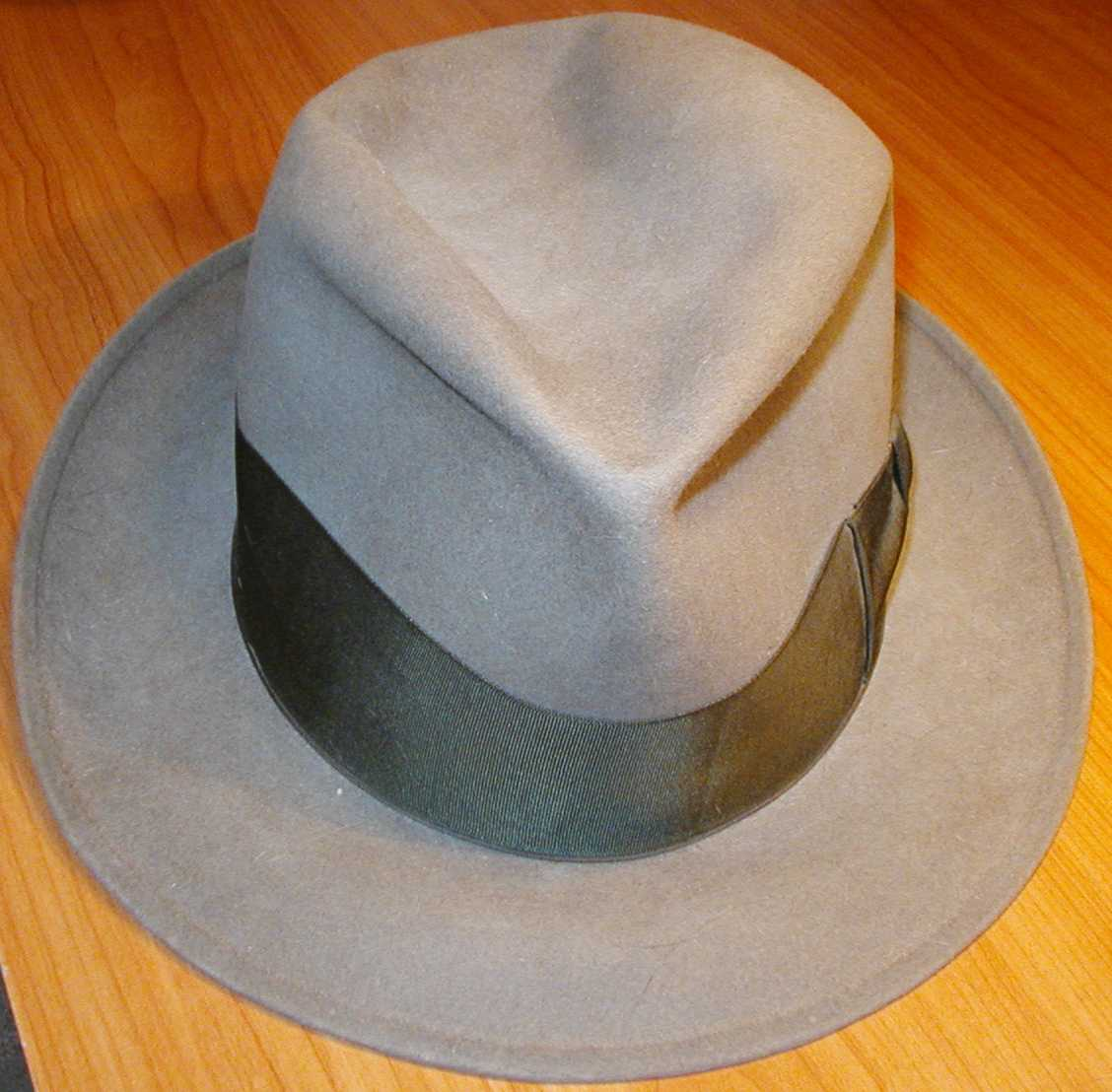 The brown fedora.
