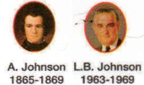The presidents Johnson