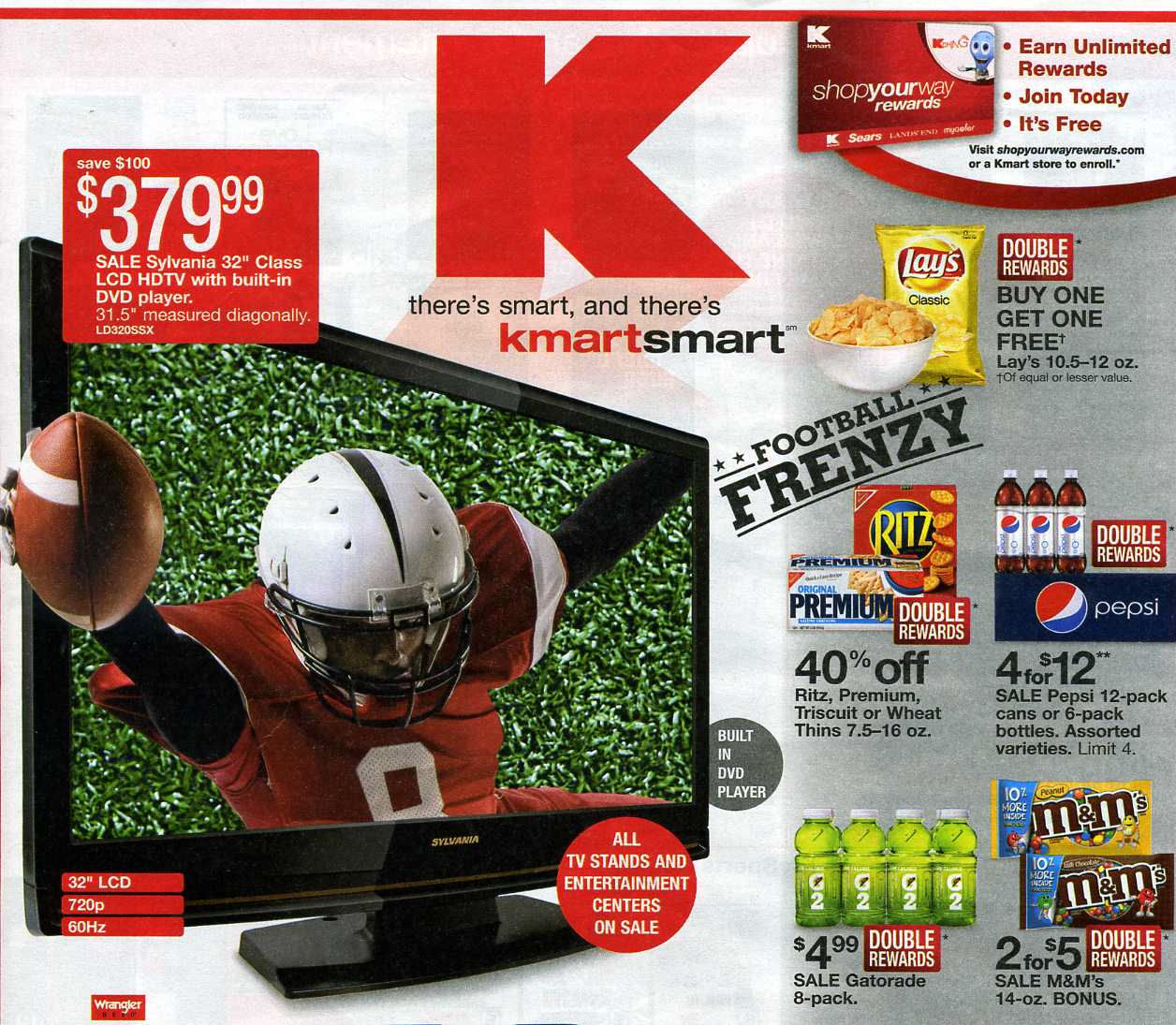 In the K-Mart ad, the guy is playing for the red team wearing number 8