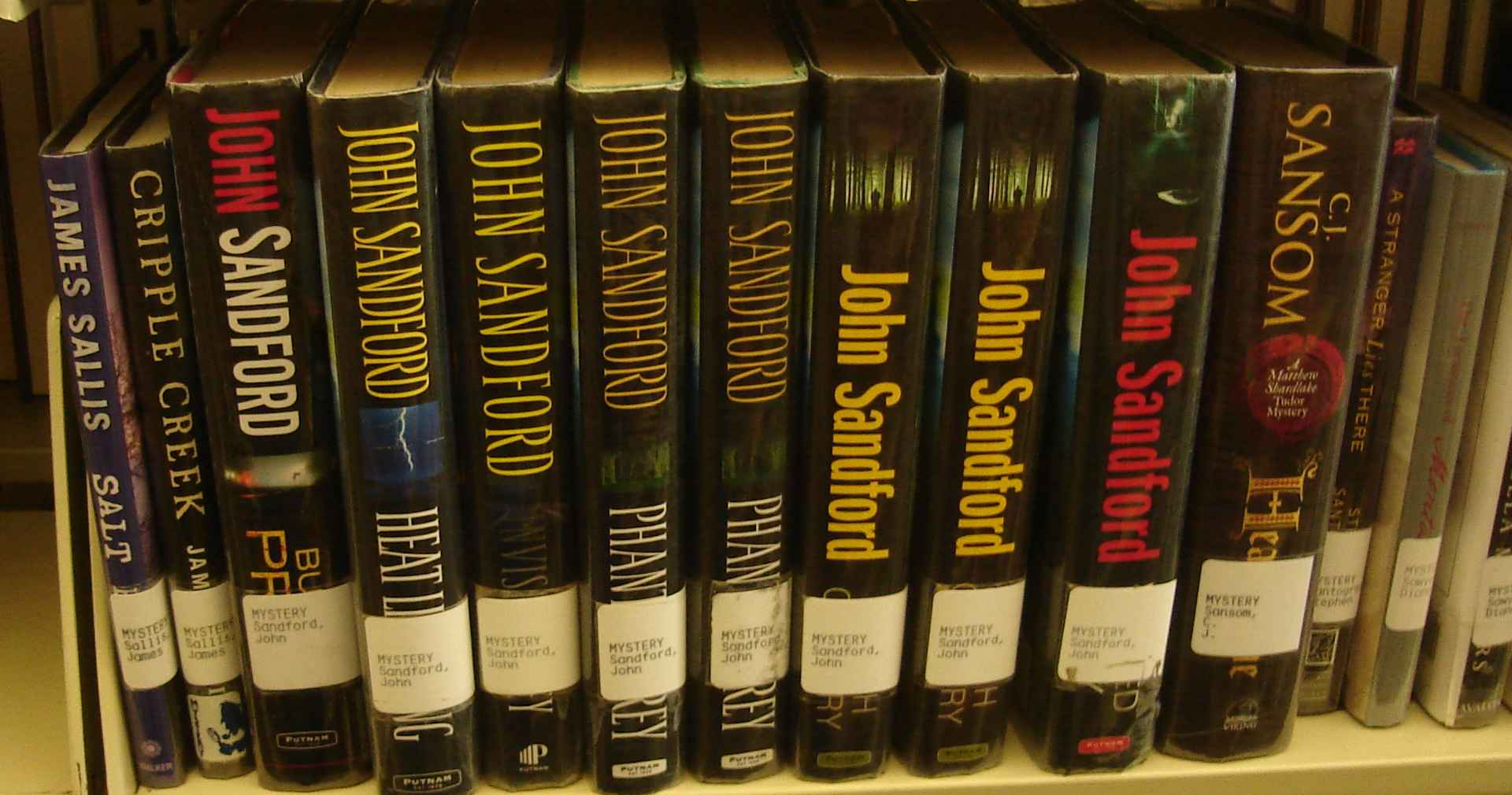 A John Sandford book.  But which one?