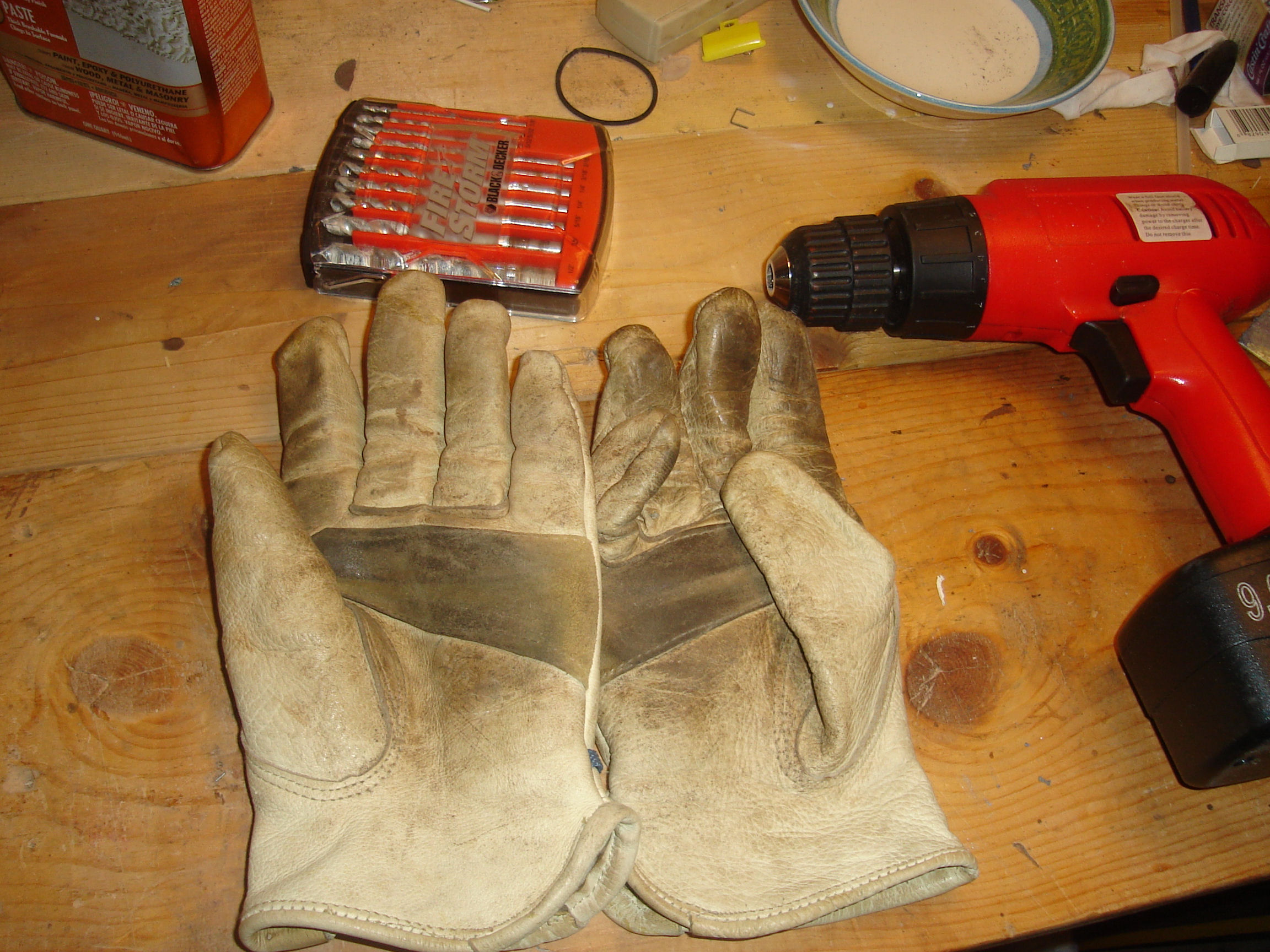 My work gloves: cowhide and unclean