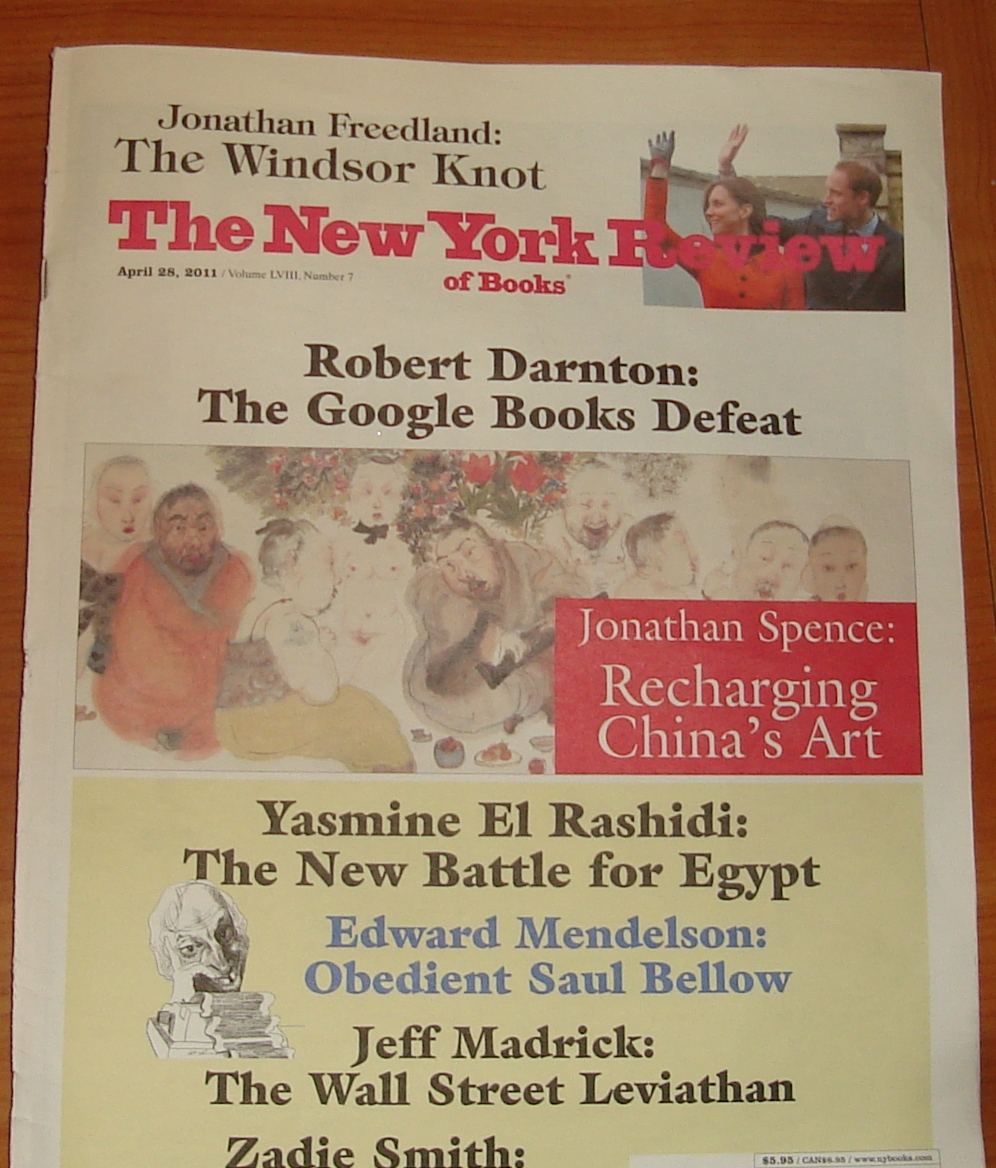 April 28, 2011 New York Review of Books