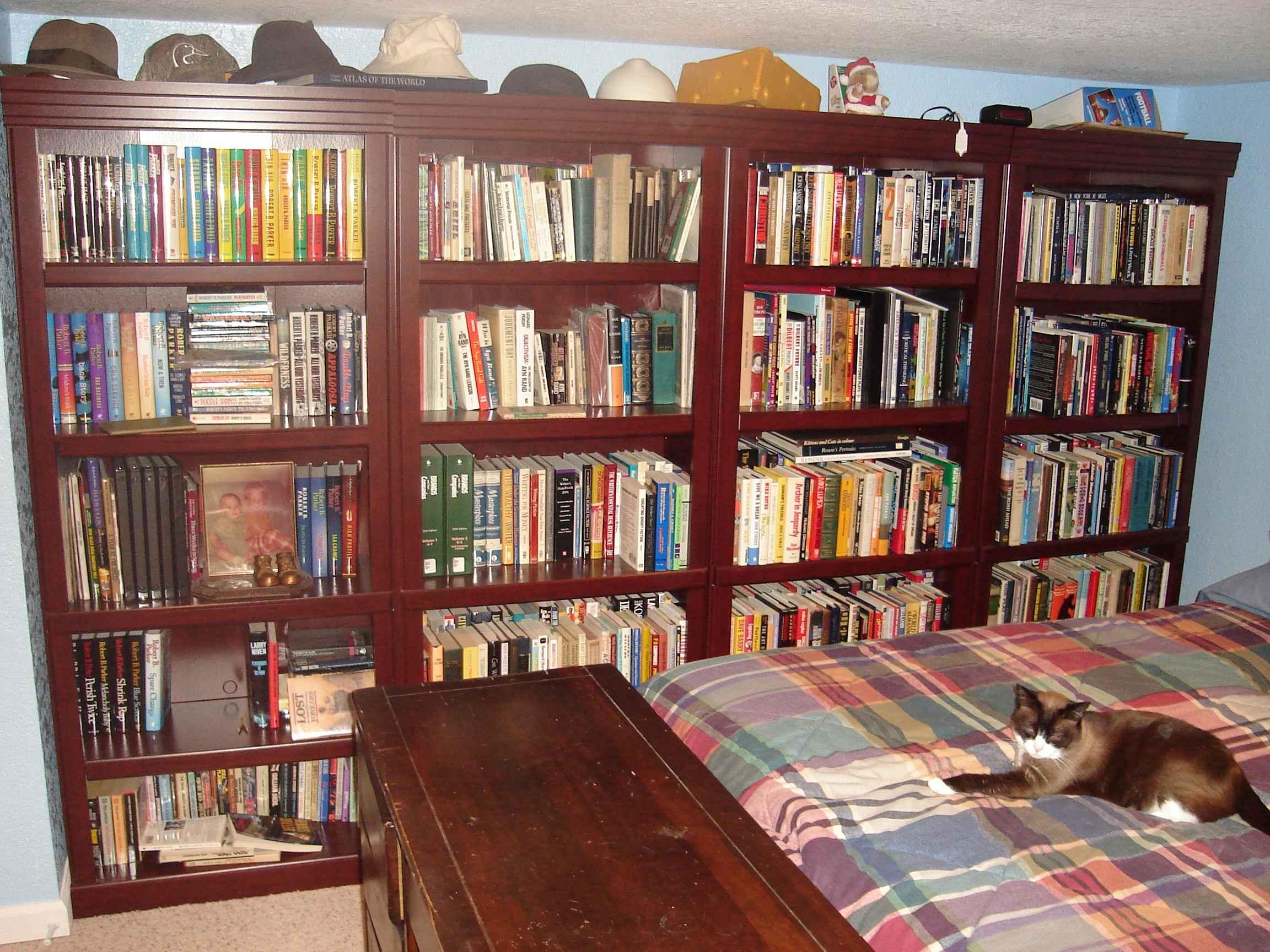 Brian's office, read books