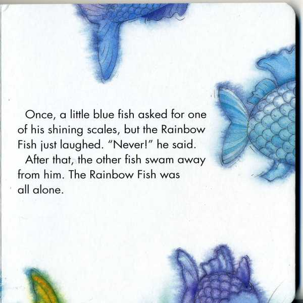 The other fish demand the Rainbow Fish give them its beauty