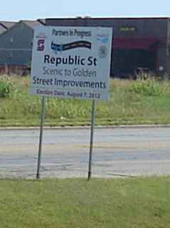 Republic Street improvements sign