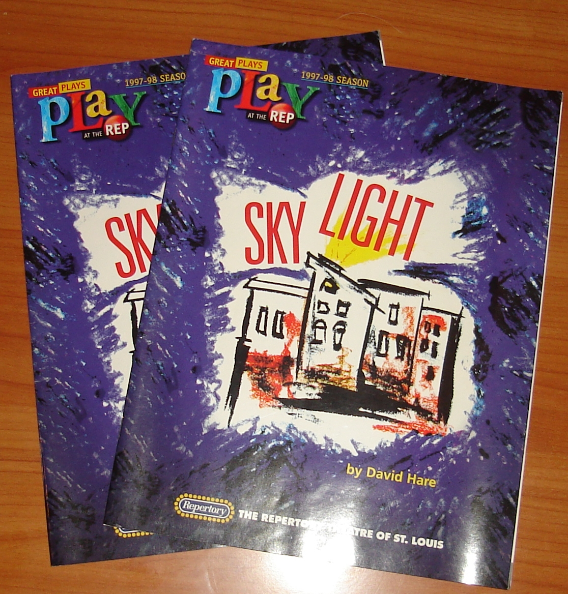 Playbill for Skylight at the St. Louis Rep