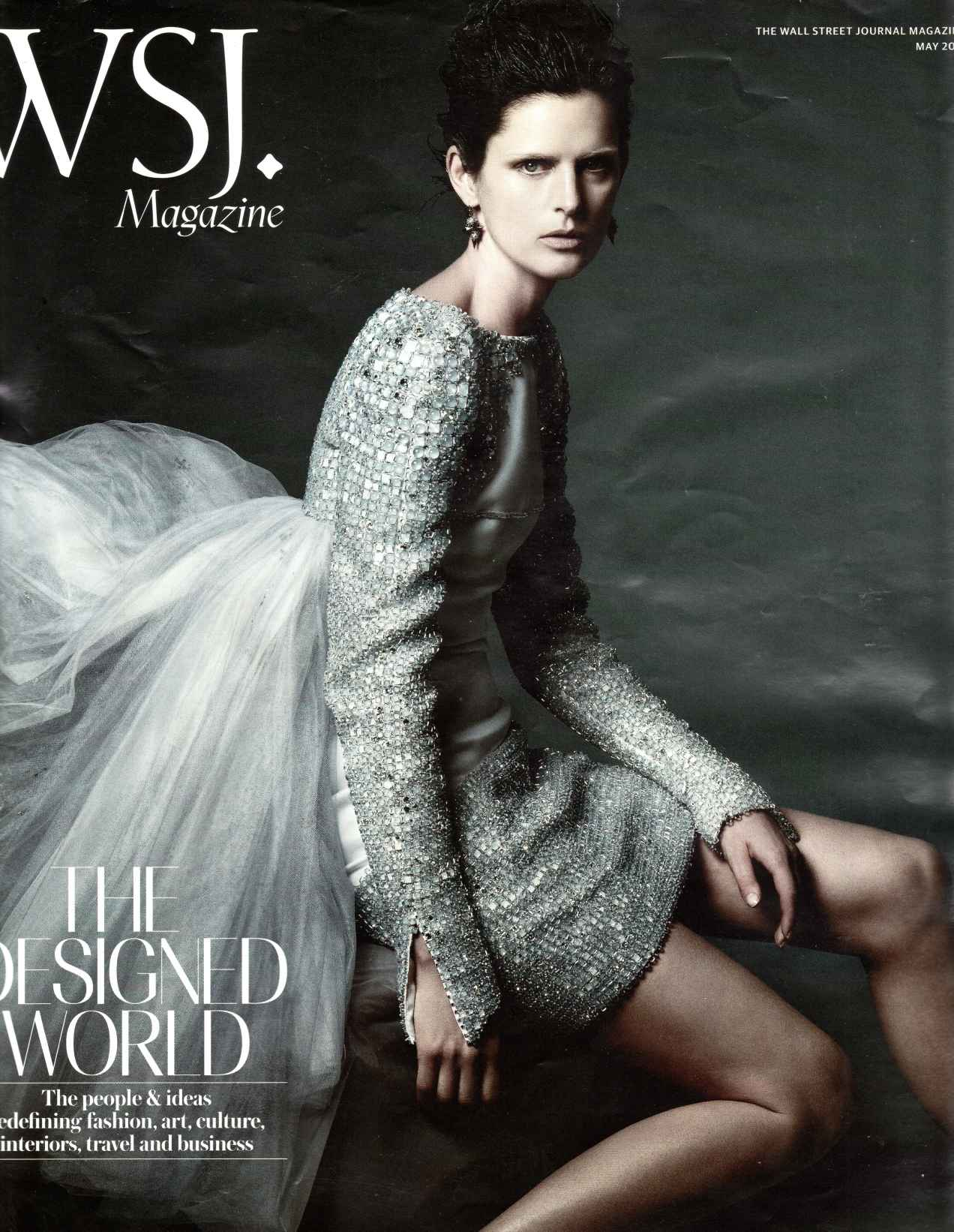 A half orc in a hauberk on the cover of WSJ magazine
