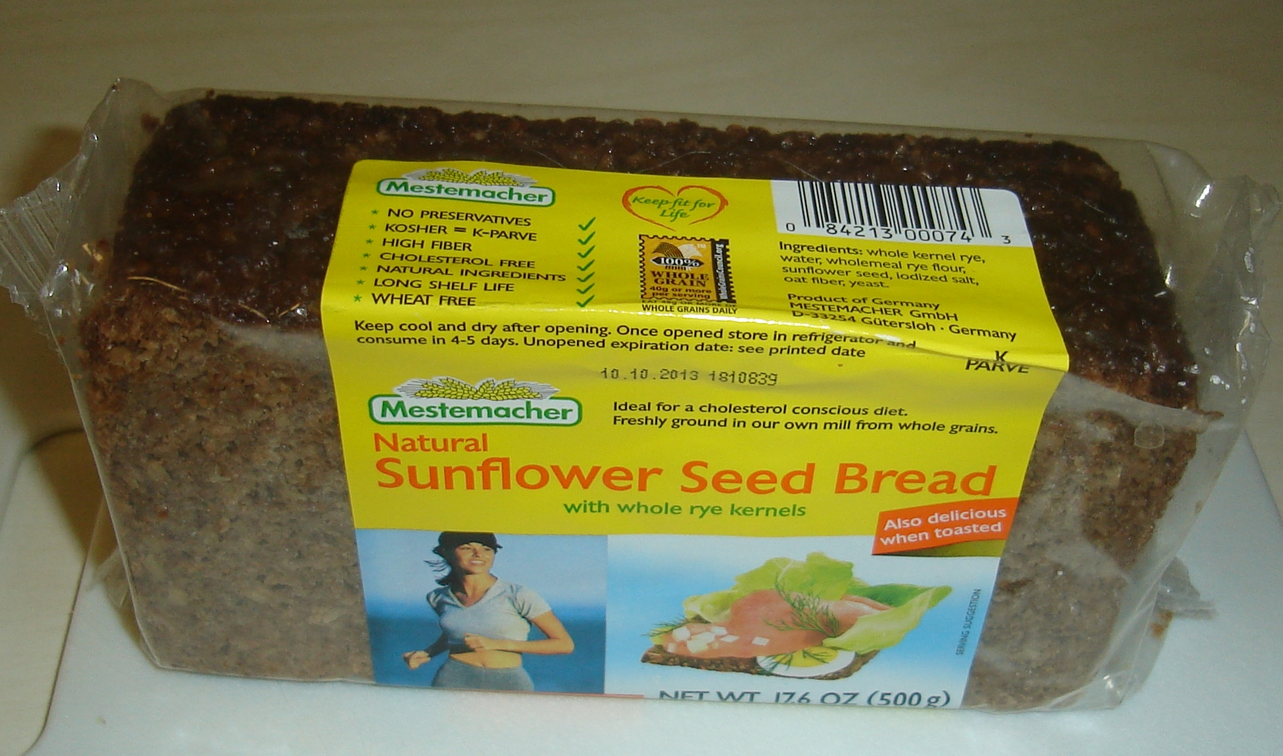 German sunflower seed bread.