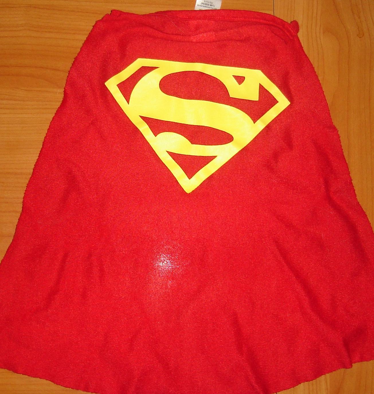 A facsimile of Superman's cape