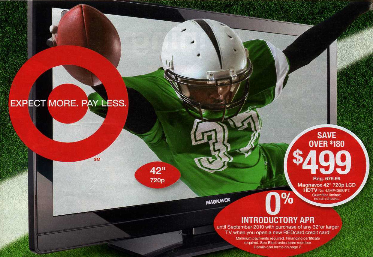 In the Target ad, the guy is playing for the green team wearing number 37