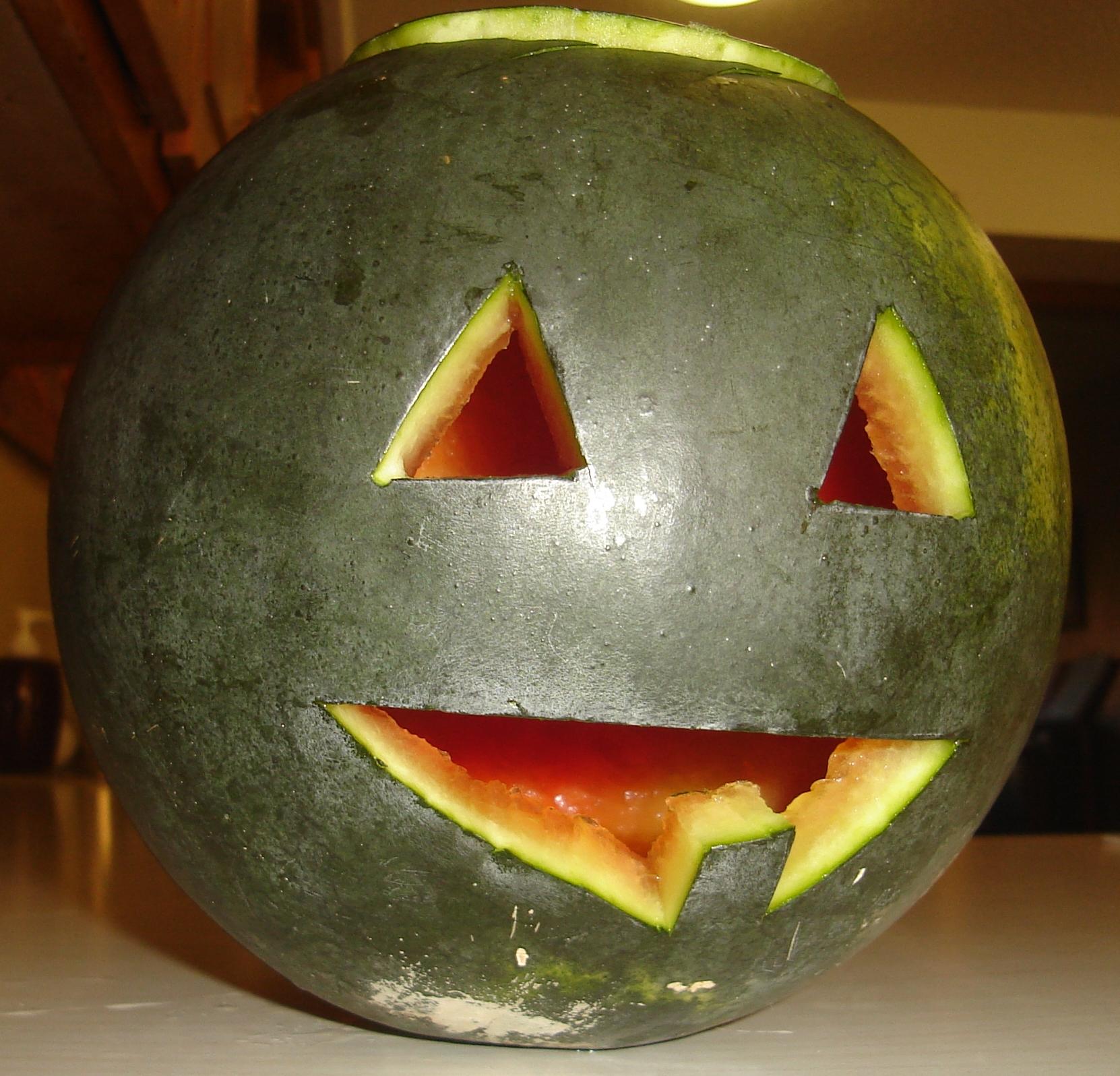 Nogglestead watermelon o'lantern 2013