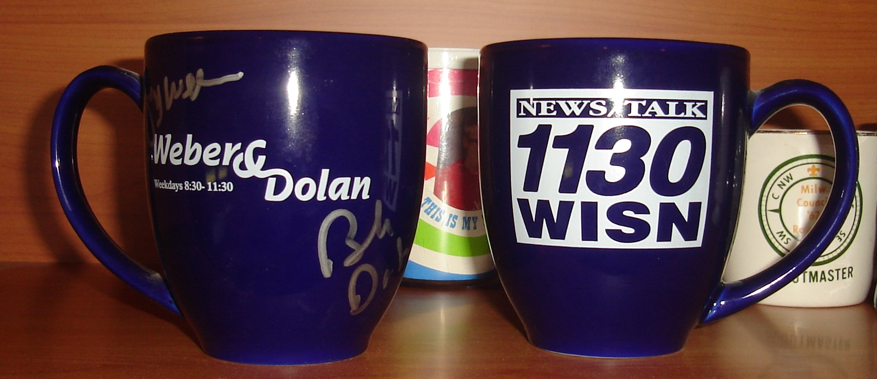 Weber and Dolan signed mugs