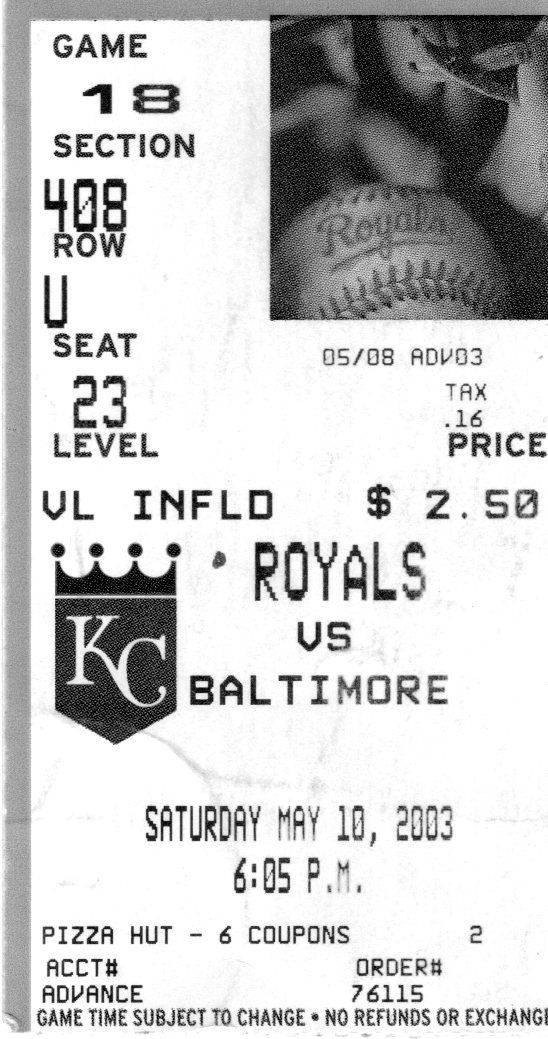 Kansas City Royals ticket stub found in Jack Hild's Point Blank