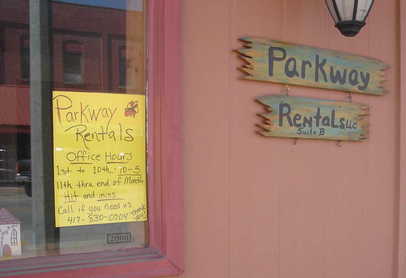 Parkway Rentals.